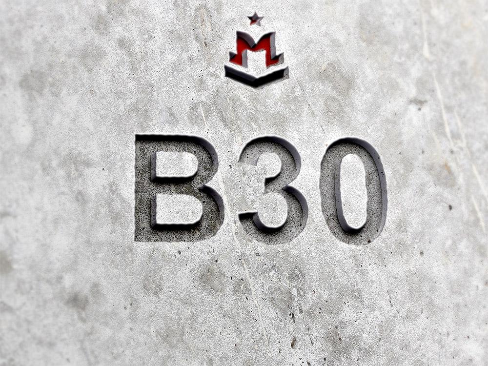 b30 бетон какая