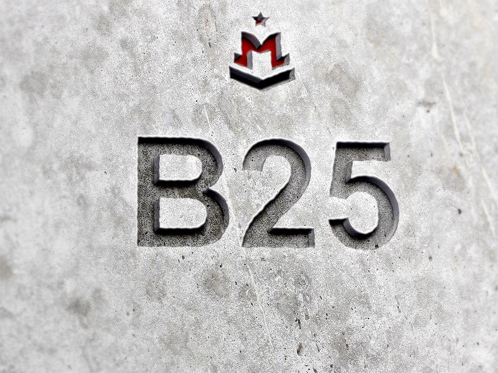 бетон b25 расход