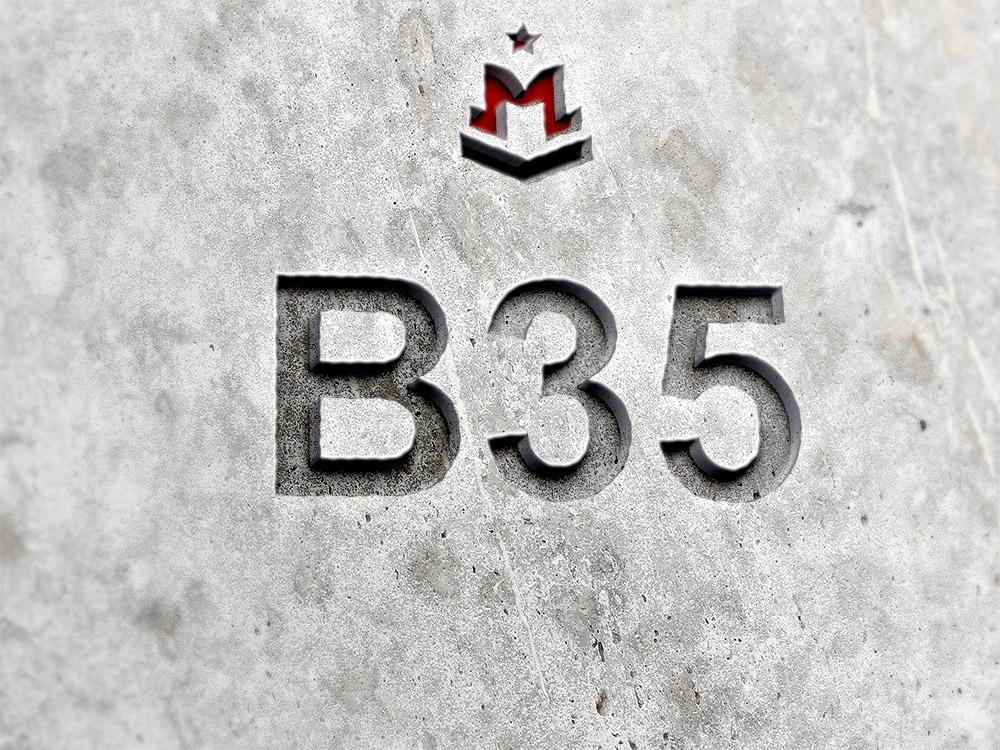 бетон b35
